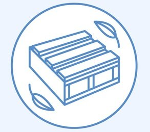 Modern vector line icon of waste sorting, recycling. Garbage col